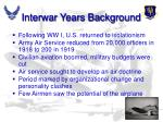 interwar years background