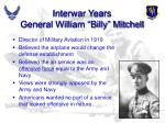 interwar years general william billy mitchell