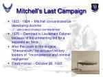 mitchell s last campaign