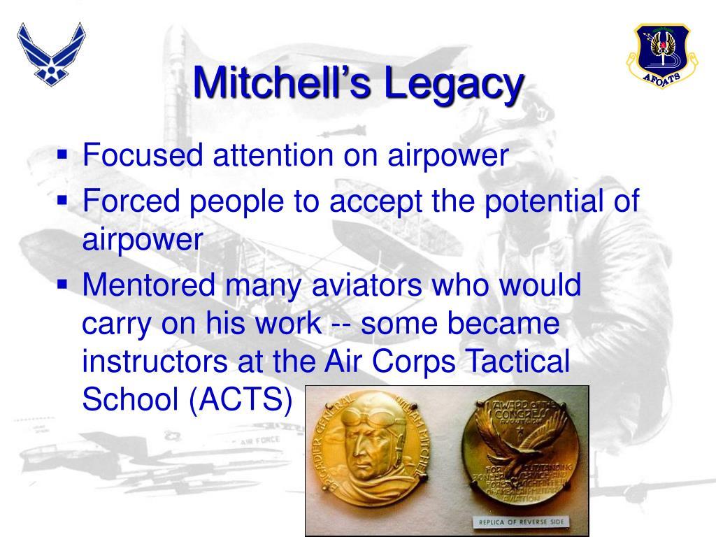 Mitchell's Legacy