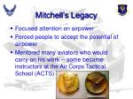 mitchell s legacy