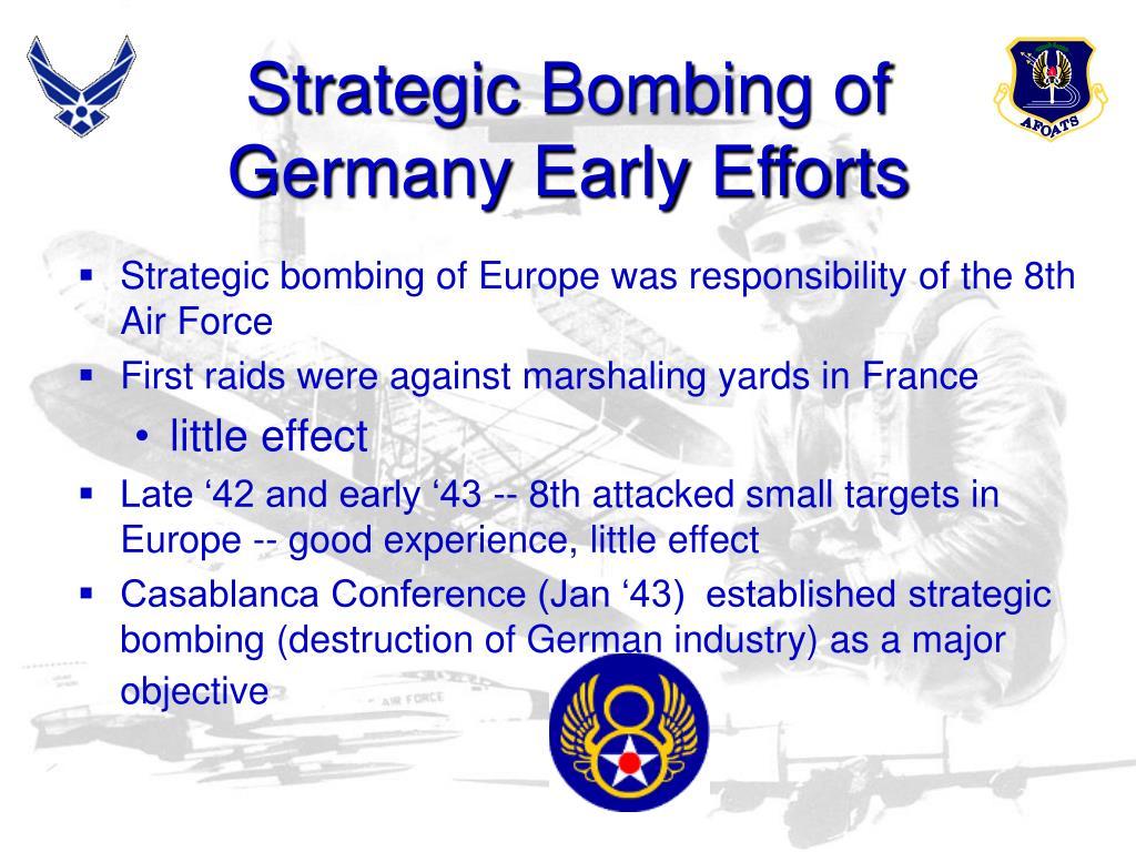 Strategic Bombing of Germany Early Efforts
