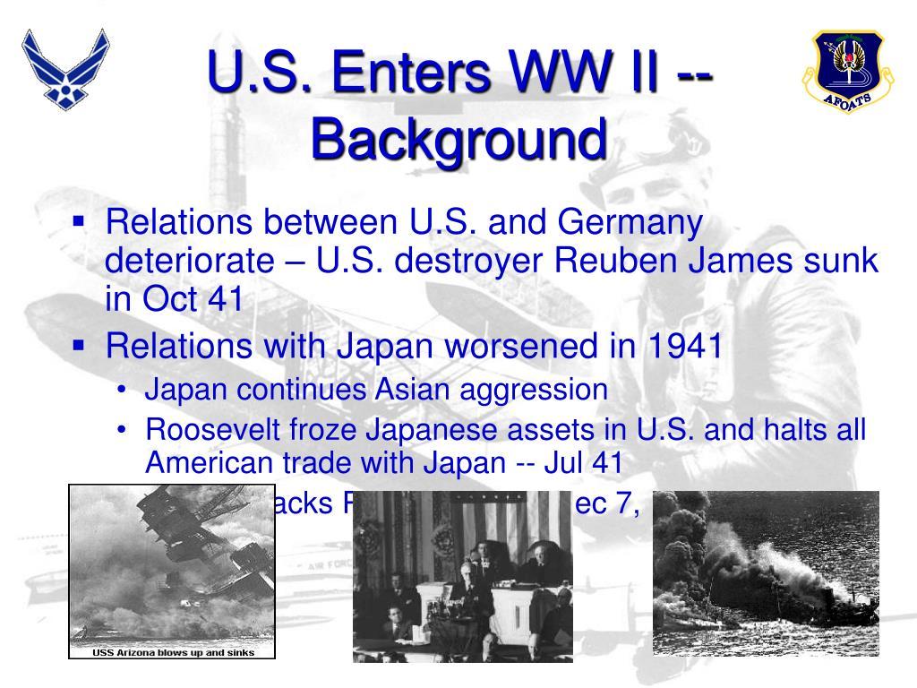 U.S. Enters WW II -- Background