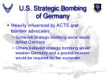 u s strategic bombing of germany