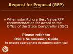 request for proposal rfp continued23