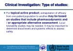 clinical investigation type of studies4