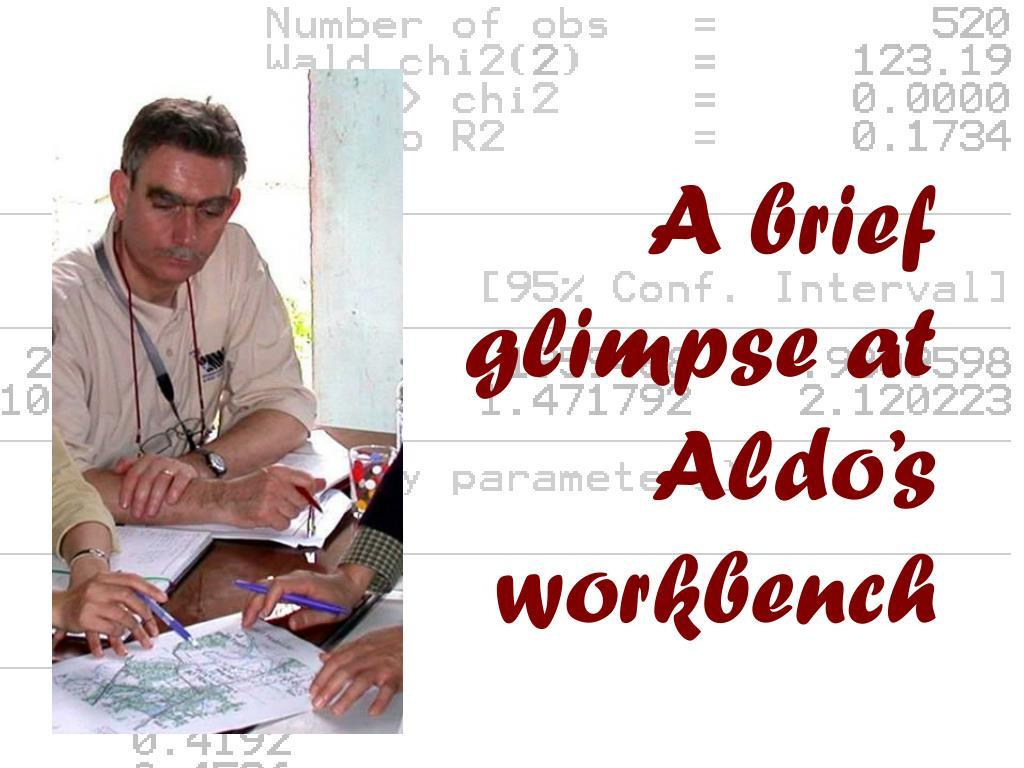 A brief glimpse at Aldo's workbench