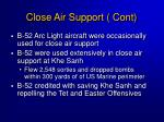 close air support cont