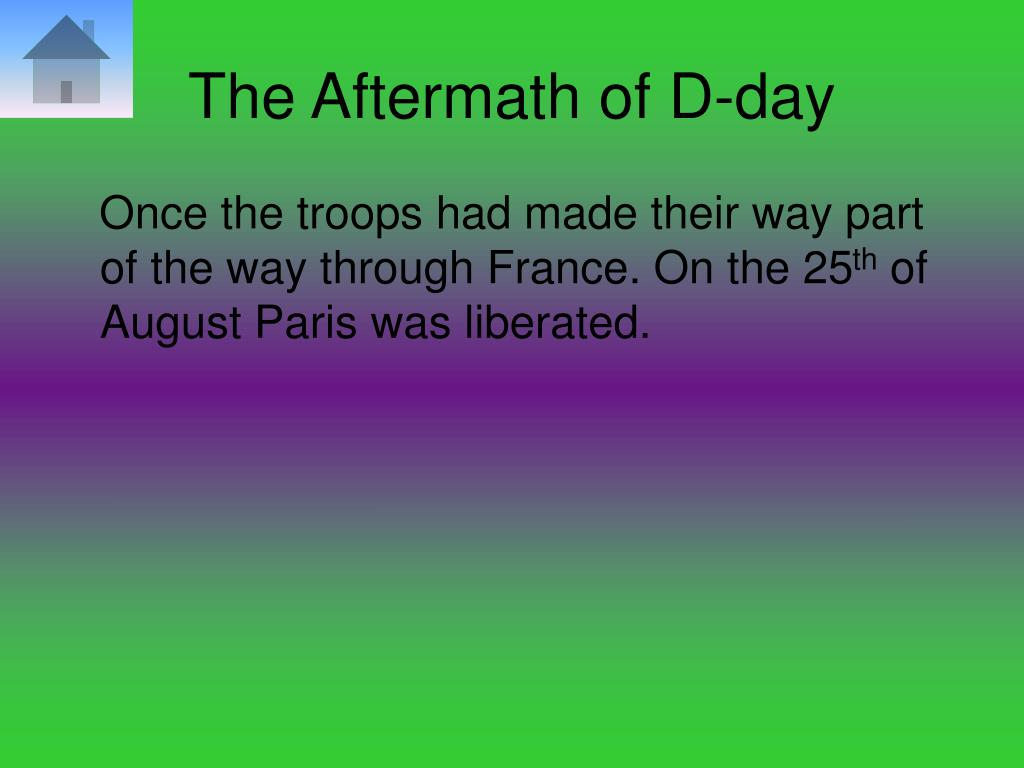 The Aftermath of D-day