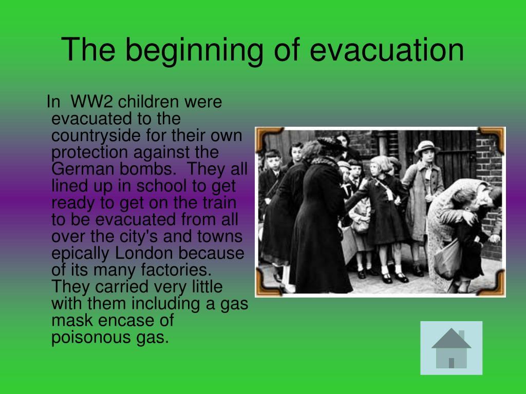 The beginning of evacuation