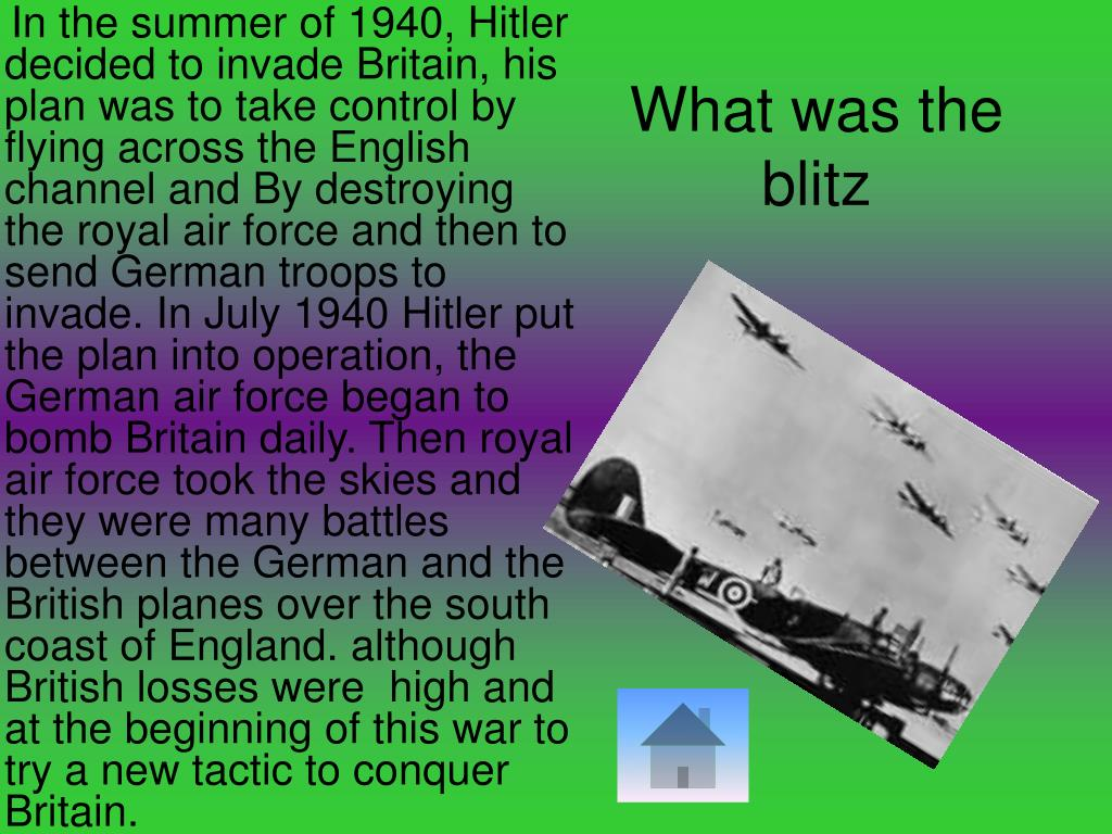 What was the blitz