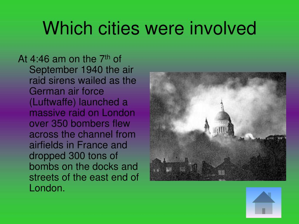 Which cities were involved