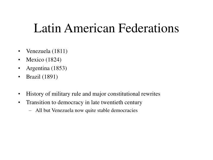 Latin American Federations