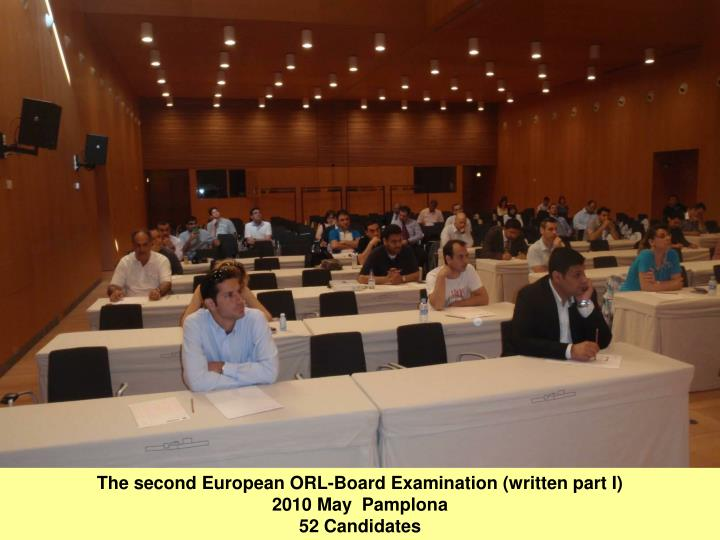 The second European ORL-Board Examination (written part I)