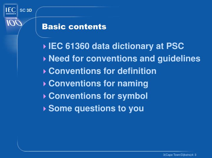 Basic contents