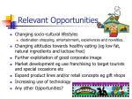 relevant opportunities