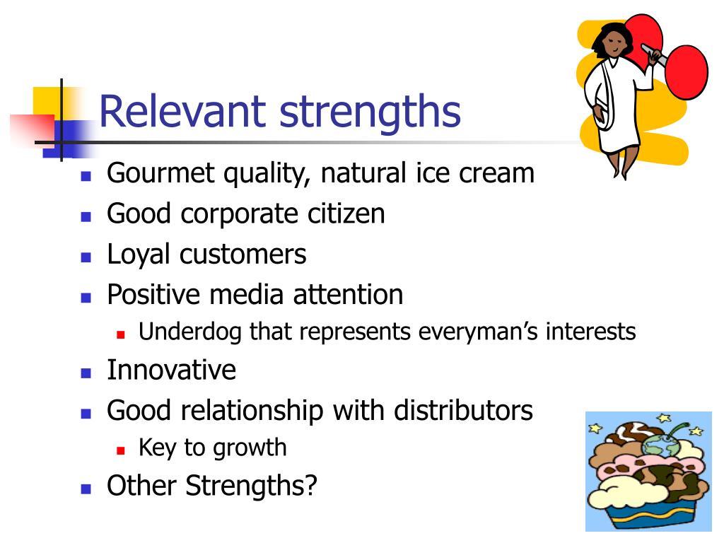 Relevant strengths