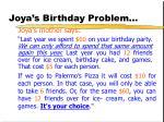 joya s birthday problem2