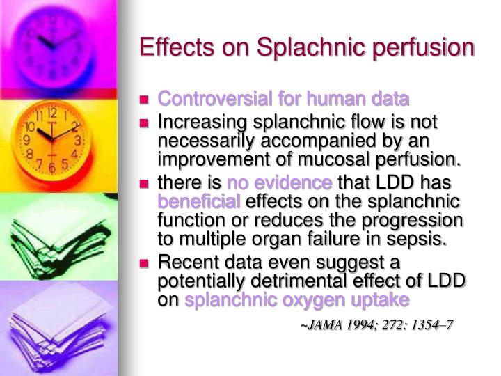 Effects on Splachnic perfusion