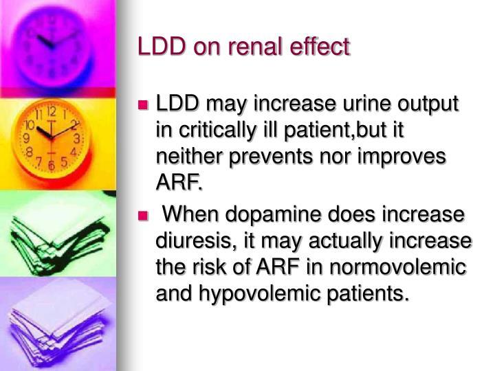 LDD on renal effect
