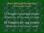 food allergen partnership 118 partnership samples