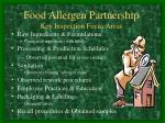 food allergen partnership key inspection focus areas