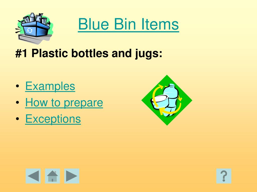 Blue Bin Items