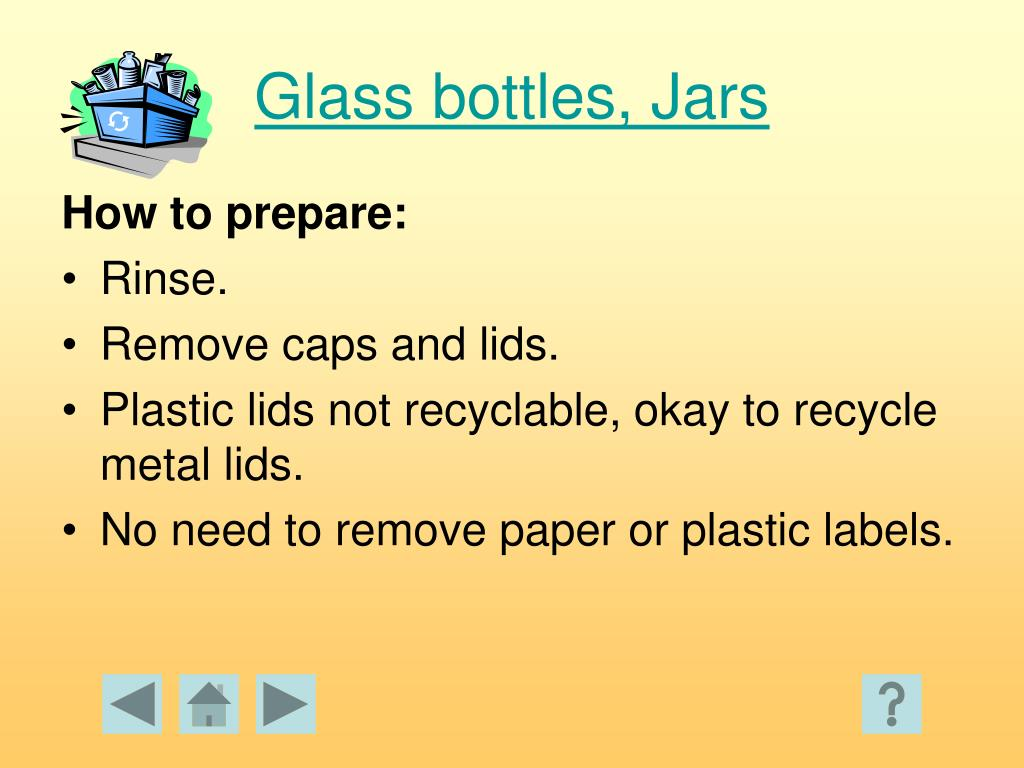 Glass bottles, Jars