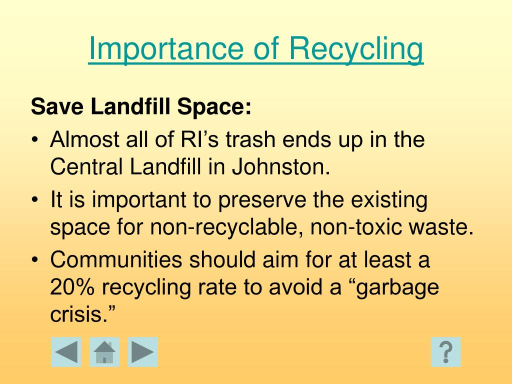 Importance of Recycling