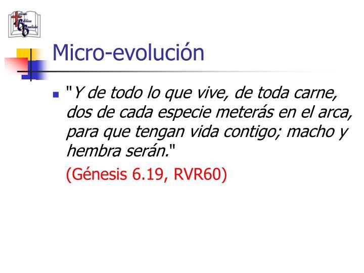 Micro-evolución