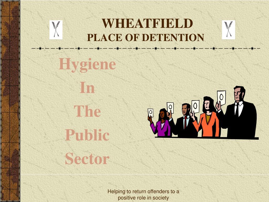 wheatfield place of detention l.