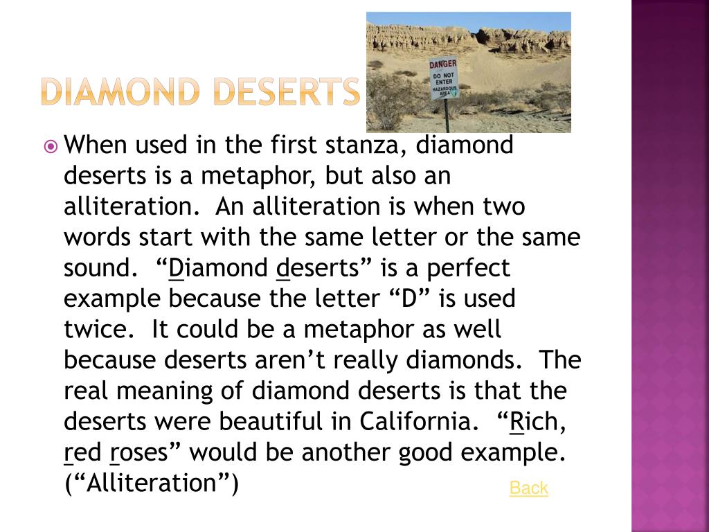 Diamond Deserts