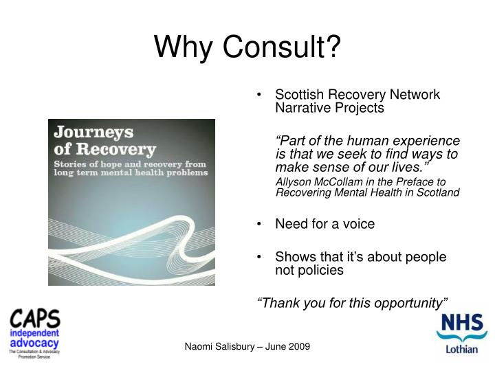 Why Consult?