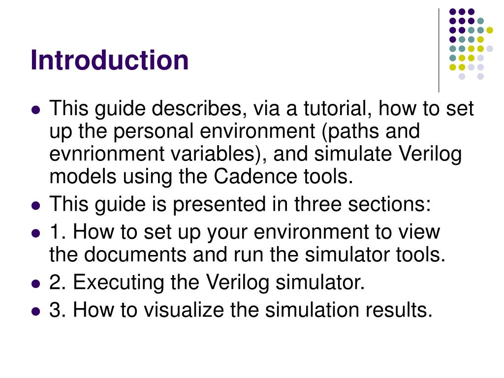 PPT - Cadence Verilog Simulation Guide and Tutorial