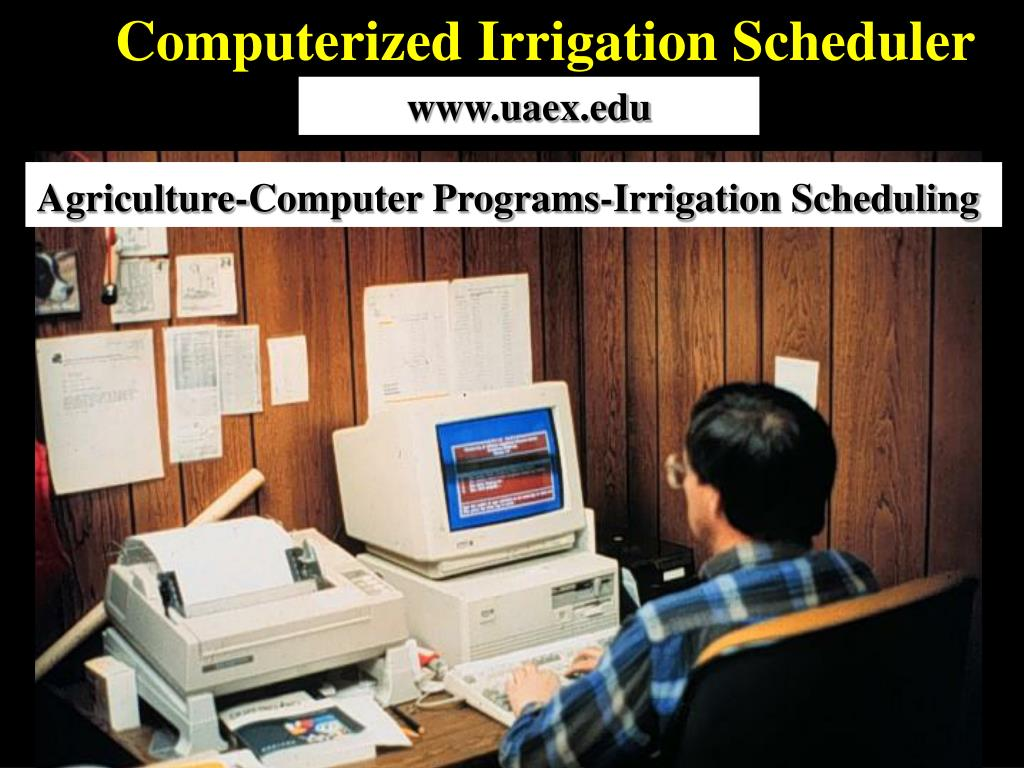Computerized Irrigation Scheduler