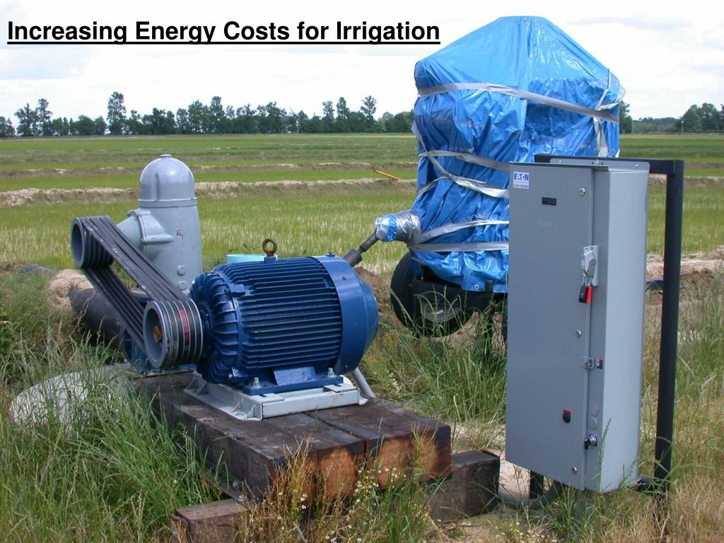 Increasing Energy Costs for Irrigation