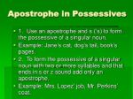 apostrophe in possessives