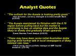 analyst quotes