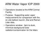 arm water vapor iop 2000