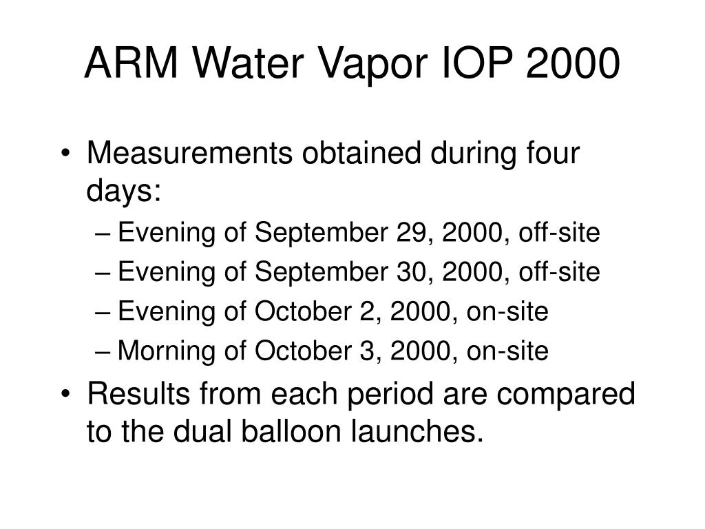 ARM Water Vapor IOP 2000
