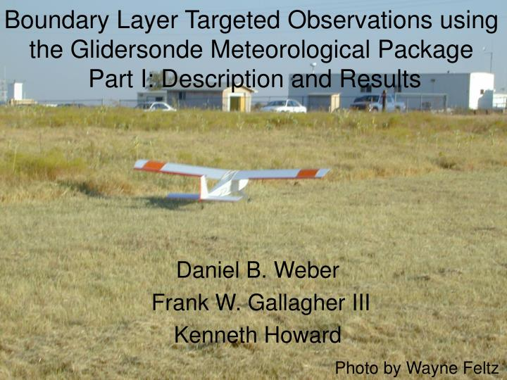 Boundary Layer Targeted Observations using