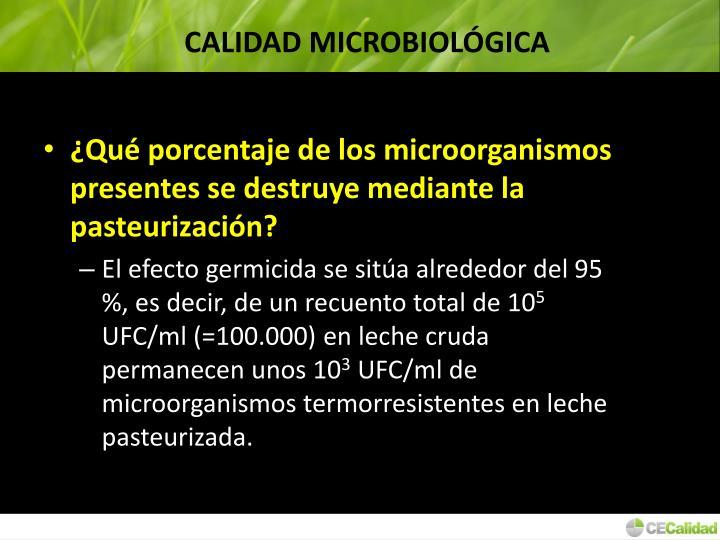 CALIDAD MICROBIOLÓGICA