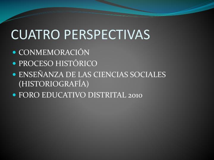 Cuatro perspectivas