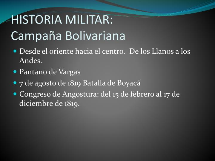 HISTORIA MILITAR: