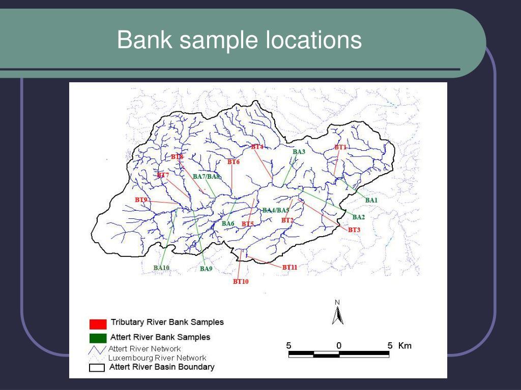 Bank sample locations