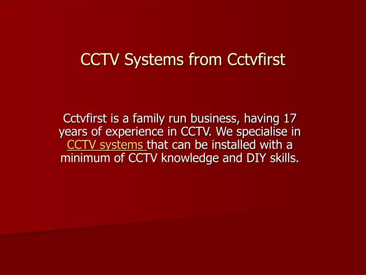 cctv systems from cctvfirst n.
