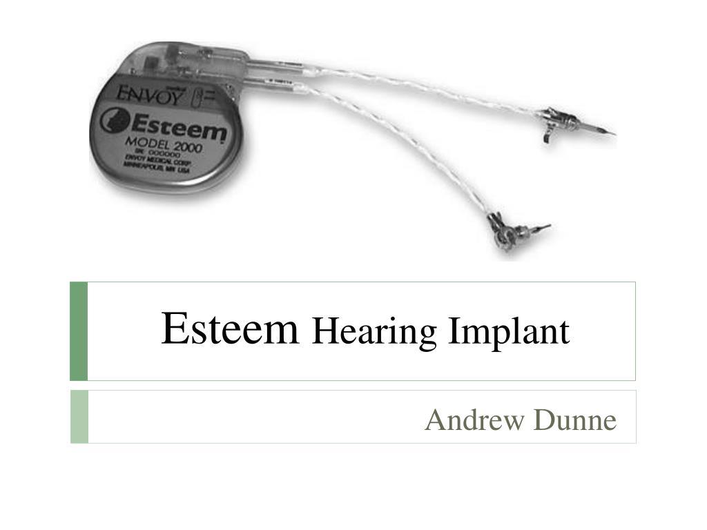 esteem hearing implant l.