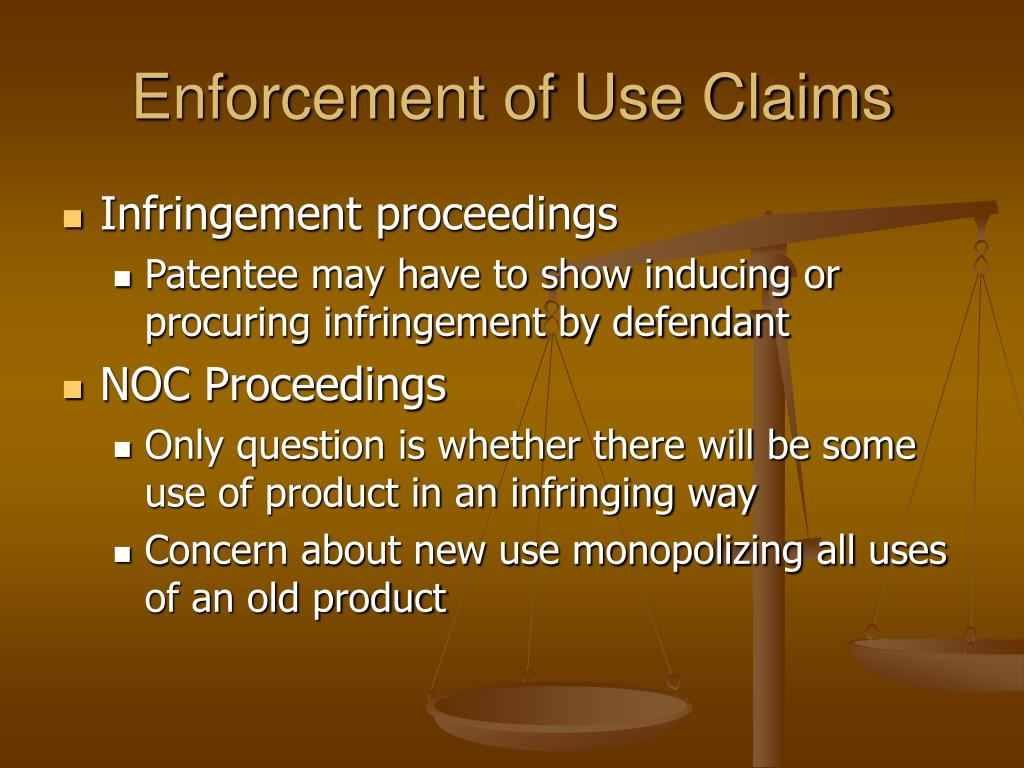 Enforcement of Use Claims