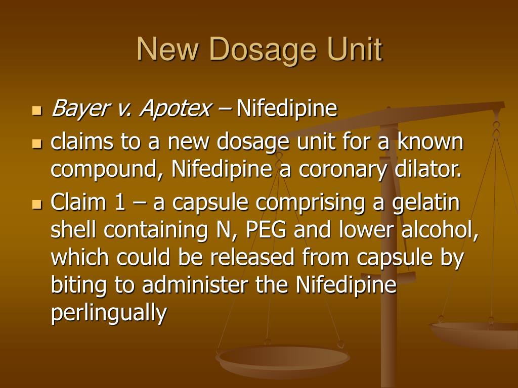 New Dosage Unit