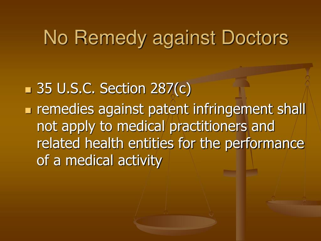 No Remedy against Doctors